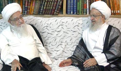 آیت الله العظمی مکارم شیرازی - آیت الله العظمی صافی گلپایگانی