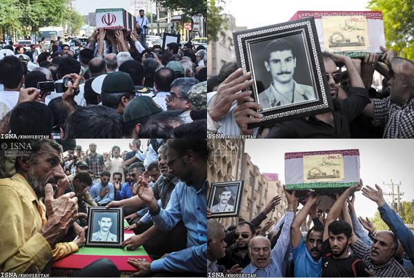 مراسم تشییع پیکر پاک شهید حامد هلالی